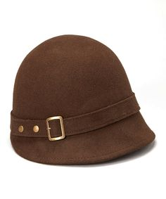 Look at this Jeanne Simmons Accessories Brown Wool Cloche on #zulily today!