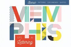 MEMPHIS Type Collection by Anugraha Design on @creativemarket