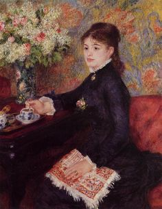 Pierre-Auguste Renoir (French Impressionist Painter, The Cup of Chocolate 1878 ~ I can envision this in my dining room Pierre Auguste Renoir, Jean Renoir, Edouard Manet, French Impressionist Painters, Impressionist Paintings, Charles Gleyre, John Hanson, August Renoir, Renoir Paintings