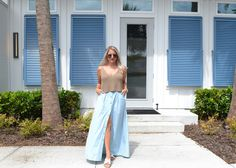 The Fashionably Late Blonde Keep My Cool, Chambray Skirt, Sweater Tank Top, Clothing Blogs, Let Them Talk, American Women, Going Out, Latest Fashion