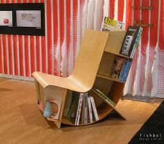 This is a merger between two of furniture, namely chairs and bookshelves.The chair is made of Canadian birch plywood with a felt cushion in customizable colors. Its perfect response to the advent of multifunctional spaces in todays urban living. incorporation chairs and bookshelves are a solution for those of you who have a small room, with the existence of this furniture in addition to saving a space and your room also looks more unique. products-i-love