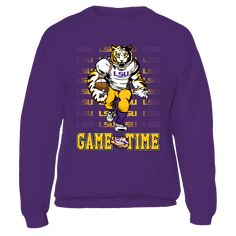 LSU Tigers - Game Time T-Shirt, Special Offer, not available in shops! Comes in a variety of styles and colors Buy yours now before it is too late! Secured payment via Visa / Mastercard / Amex  The LSU Tigers Collection, OFFICIAL MERCHANDISE  Available Products:          Gildan Fleece Crew - $39.95 Gildan Unisex Pullover Hoodie - $49.95 Gildan Long-Sleeve T-Shirt - $33.95 District Women's Premium T-Shirt - $29.95 District Men's Premium T-Shirt - $27.95 Gildan Unisex T-Shirt - $25.95 Gildan…