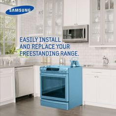 Upgrading your oven has never been easier with the new Slide-In Range.