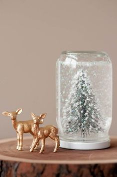 Today you inspired me: DIY snow globe.