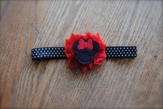Minnie Mouse Inspired HeadbandANY SIZE pink or red by MadiMosBows, $8.00 www.madimosbows.etsy.com