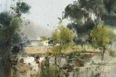 【鄉村角落 / A corner of the countryside】18 x 26 cm  watercolor Demo by Chien Chung Wei