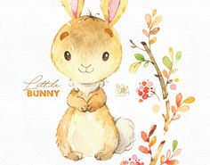 This Cute Little Bunny set is just what you needed for the perfect invitations, craft projects, paper products, party decorations, printable, greetings cards, posters, stationery, scrapbooking, stickers, t-shirts, baby clothes, web designs and much more. :::::: DETAILS :::::: This