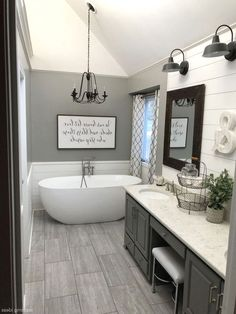 Interesting Farmhouse Decor Ideas For Bathroom Consequently a bathtub is one of the most essential aspects when choosing new pieces to acquire a bathroom. Read Interesting Farmhouse Decor Ideas For Bathroom Diy Bathroom Decor, Budget Bathroom, Bathroom Interior, Bathroom Ideas, Bathroom Remodeling, Bathroom Organization, Bathroom Makeovers, Remodeling Ideas, Remodel Bathroom