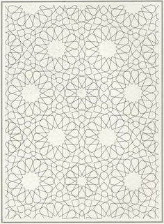 Pattern in Islamic Art - BOU 128 moorish arabesque moroccan muslim geometric tile design #islamicart