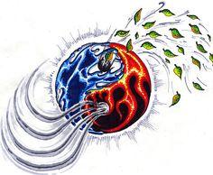 yingyang elements by john2dope.deviantart.com on @DeviantArt