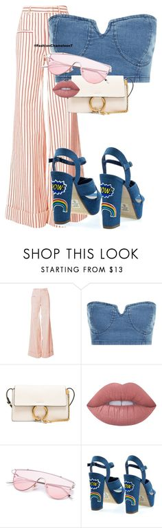 """Untitled #396"" by fashionchameleont on Polyvore featuring Rosie Assoulin, Chloé and Lime Crime"