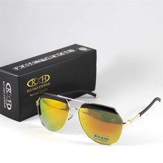 b08c8d45938 Brand Sunglasses Eyewear Women Men Shade Sun Glasses Gold Frame Yellow  Vintage… Buy Sunglasses