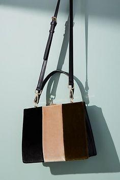 Anthropologie Colorblock Velvet Tote Bag -- Only Always a48e13c9527fb