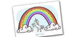 Rainbow Alphabet Arc (Phase 1) - Alphabet Arc, mat, rainbow, DfES Letters and Sounds, Letters and sounds, Letters A-Z, Learning Letters, Phase one, Phase 1 Foundation Letters, Mnemonic images