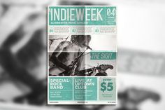 Indie Newspaper Poster by Guuver on @creativemarket