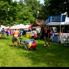 Ragbrai food tents in Iowa City
