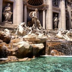 The Trevi Fountain (Fontana di Trevi), Rome, Italy (It was constructed in Places Around The World, Oh The Places You'll Go, Places To Travel, Places To Visit, Around The Worlds, Travel Destinations, Dream Vacations, Vacation Spots, Trevi Fountain Rome