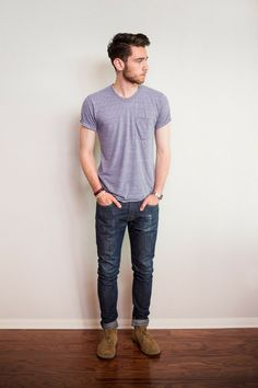 Simplicity and Class are never go out of style! Our Men's Heather Grey Crew and V-Necks have a perfect fit, don't shrink and made from 100% light weight tri-blend. #sixthreads #triblend http://sixthreads.com/collections/1-shirt/products/copy-of-mens-heather-grey-crew-neck-1