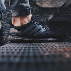 @TopTiiger with a clean shot of his custom all-black adidas #UltraBoost. by nicekicks