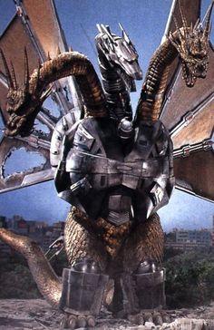 """jthenr: jthenr: ""King Geedorah, take me to your leaderQuick to claim that he not no snake like, ""Me neither"" Godzilla vs. King Ghidorah (1991)Dir. Kazuki Omori """