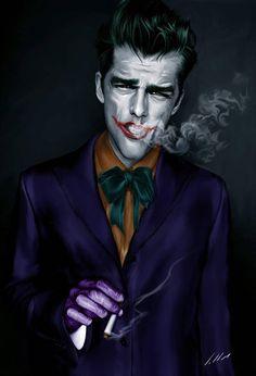 Digital Portraits by Alexandre SalleS. I guess if Norm MacDonald were to play Joker? O Joker, Joker Y Harley Quinn, Joker Pics, Joker Art, Heath Ledger Batman, Personnage Dc Comics, Batman 1, Batman Stuff, Joker Kunst