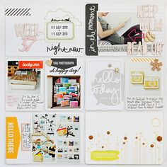Clean, fresh white PL page with pops of color!