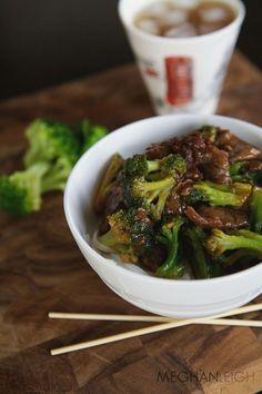 Beef and Broccoli- www.meghan-leigh.com/blog