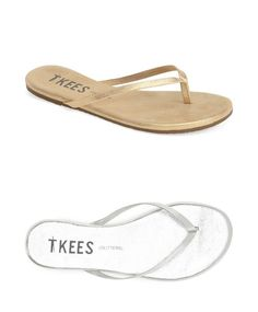 New TKEES Glitters: Subtly metallic sandals for summer