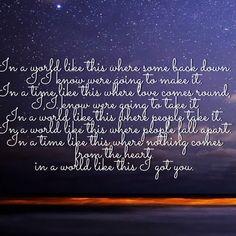 In A World Like This Lyrics Backstreet Boys. Made by @ MW