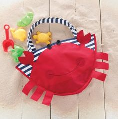 Crabby Beach Tote  Comes with Beach Toys!  Now in Stock