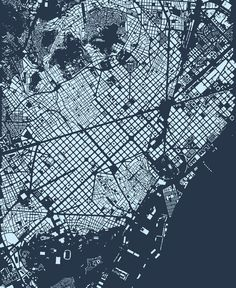 barcelona, in blue, by cityfabric.