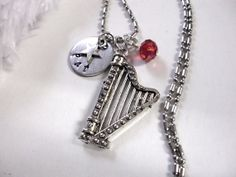 Harp Jewelry Personalized Jewelry Personalized by CharmAccents, $22.00