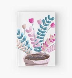 'Colour Pop Plant' Hardcover Journal by PounceBoxArt Blank Page, Journal Design, Notebooks, Pop, Prints, Color, Colour, Popular, Newspaper Design