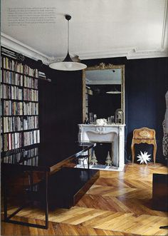 Friday eye candy:  Black in interiors