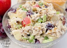 This simple Waldorf Chicken Salad Recipe is so yummy, perfect for lunch or a light dinner! Waldorf Chicken Salad, Waldorf Salad, Great Recipes, Dinner Recipes, Favorite Recipes, Summer Recipes, Easy Recipes, Special Recipes, Light Recipes
