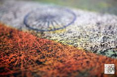 Fragment of Indian Flag. Hand painted Art.
