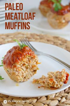 "Low Fat Paleo Meatloaf Muffins with ground turkey, ground pork and lots of veggies to make them low-fat, healthy and moist. Also gluten free, dairy free and ""clean."""