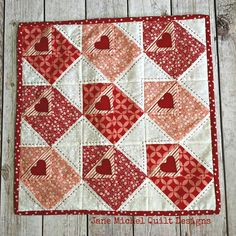 Love Notes Pillow Cover and Mini-Quilt PDF Pattern for Valentine's Day