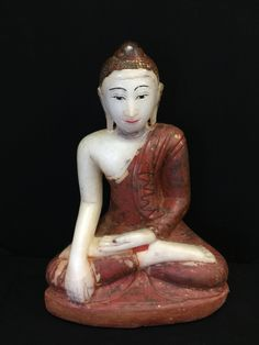 Early Mandalay alabaster Buddha. Burma. 18/19th cent.