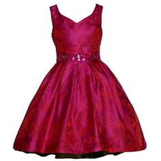 Bonnie Jean Girls 4-6x Jacquard Sequin Dress