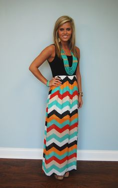Mandy Maxi in Black....I'm in love with this look!! Love the colors