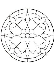 stained glass designs | Free Round Window Patterns For Stained Glass