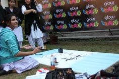 #GlowGraffiti visited #HIKC to give students a chance to colour life!