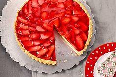 Erdbeertarte mit weißer Schokoladencreme 1