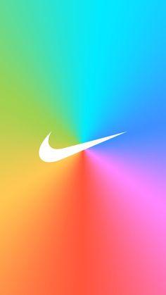[レインボー]ナイキロゴ/NIKE LogoiPhone壁紙 iPhone 5/5S 6/6S PLUS SE Wallpaper Background