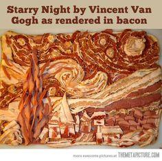 That's how we do things around here... Paul Gauguin, Vincent Van Gogh, Van Gogh Arte, Gogh The Starry Night, Starry Nights, Food Humor, Food Jokes, Edible Art, Edible Food