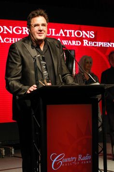 One of country music's finest. Vince Gill accepts the Country Radio Broadcasters' Career Achievement Award at the Country Radio Hall of Fame Induction Ceremony on Feb. 18 in Nashville, Tenn.