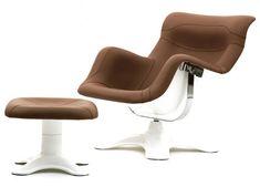 Icon: Karuselli Lounge Chair by Yrjö Kukkapuro for Avarte ( 1964 ) Ottoman Sofa, Upholstered Arm Chair, Furniture Upholstery, Unique Furniture, Home Furniture, Furniture Design, Lounge Chair, Comfy Chair, Teal Accent Chair