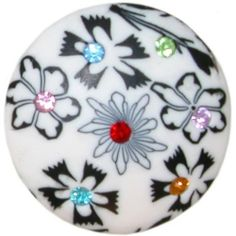 "1 5/8"" Diameter Clay Ring with Rhinestones In White . $1.99. Save 60%!"