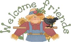 "I'm a Little Scarecrow  Tune: I'm a Little Teapot     I'm a little scarecrow,   Raggedy and worn.   I wear a hat,   And a shirt that's torn.   When the crows come,   I wave and shout,   ""Away from my garden ----   Get on out!"""